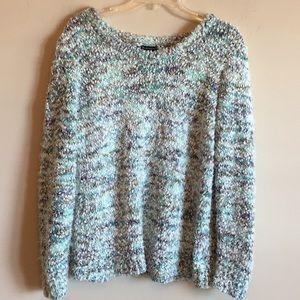 New Directions Popcorn Eyelash Fuzzy Sweater